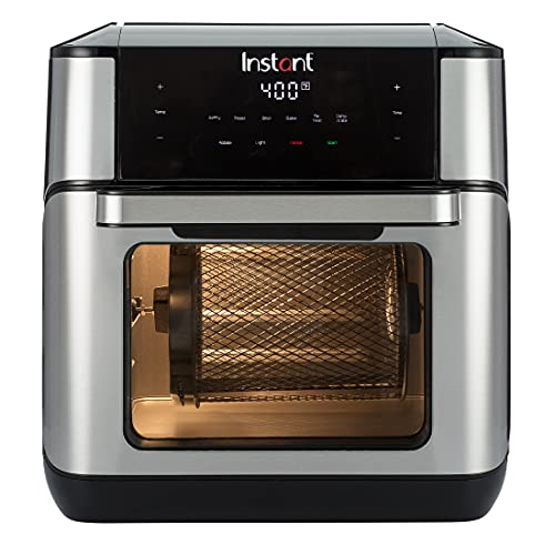 Instant Vortex Plus 10 Quart Air Fryer, Rotisserie and Convection Oven, 7-in-1 Air Fry, Roast, Bake, Dehydrate and Warm, Stainless Steel