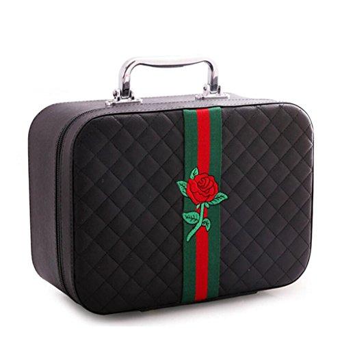 Scatola portaoggetti JT- Sac cosmétique Portable Sac de Voyage étui cosmétique boîte de Rangement pour cosmétiques Durable S Noir