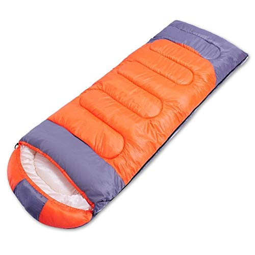 Edmend Acampar Saco de Dormir Impermeable Saco de Dormir for Adultos for 4 Temporada Viajar Senderismo Camping Actividades al Aire Libre Saco De Dormir para Acampar (Color : Orange, Size : 190x80cm)