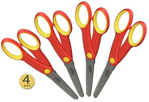 Set of 4 School Smart Blunt Tip Scissors for Middle School 6 1/4