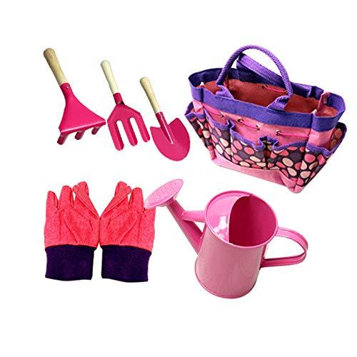 Juego de herramientas de jardinería para exteriores con mango ergonómico, herramientas de jardinería para mujeres, hombres, herramientas de jardín