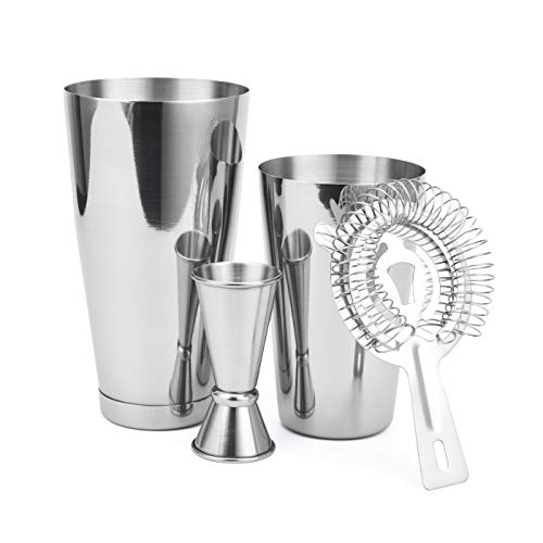 Cresimo Boston Shaker Sets Silver - 4 Piece