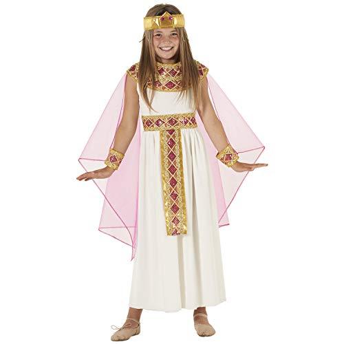 Morph Pinkes Kleopatra Kostüm für Mädchen, Göttin Verkleidung - L (134- 146)