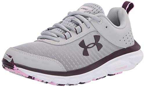 Under Armour womens Charged Assert 8 Marble Running Shoe, Mod Gray (101 White, 9.5 US