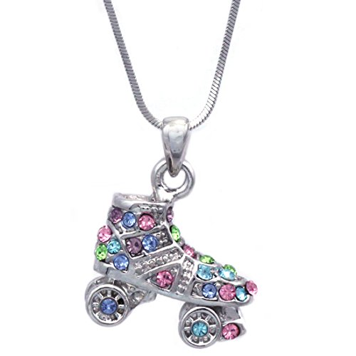 3D Roller Skates Skating Shoes Pendant Necklace Jewelry (Multi-Color)