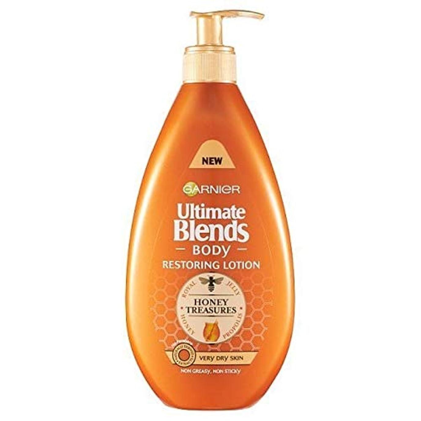 バーストむき出しバランスのとれた[Garnier ] 究極のブレンド蜂蜜のボディローション非常に乾燥肌の400ミリリットル - Ultimate Blends Honey Body Lotion Very Dry Skin 400ml [並行輸入品]