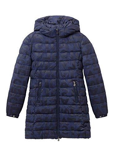 Desigual Coat Letras Manteau, Bleu (Navy 5000), Taille Fabricant: 38 Femme
