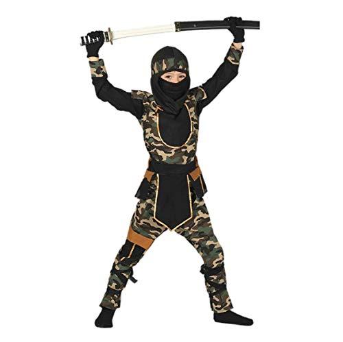 Ninja Kämpfer - Kostüm für Kinder Gr. 110 - 146, Größe:110/116