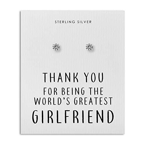 Sterling Silber Kristallohrringe für die beste Freundin der Welt