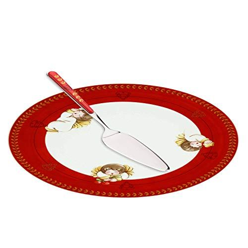 THUN  - Set Piatto Dolce Natale Multiuso Grande con Paletta