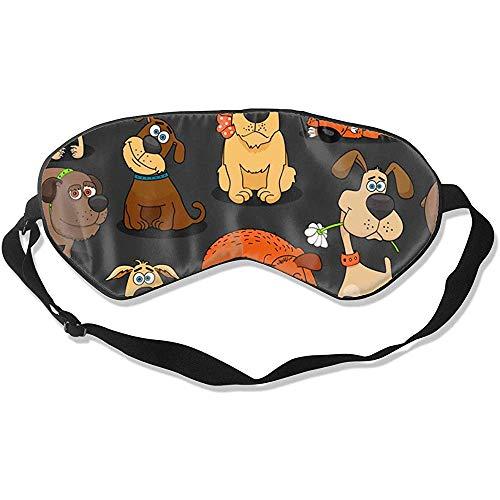 Sleep Mask,Süße Bulldogge Corgi Und Haustier Hunde Super Glatte Augenmasken Für Travel Yoga Naps