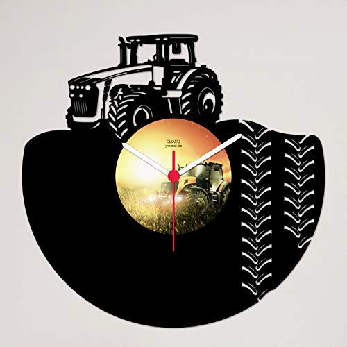 Gravinci.de Schallplatten-Wanduhr Trecker Traktor