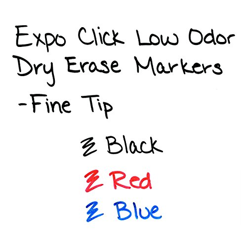 EXPO 1751669 Click Low-Odor Dry Erase Retractable Markers, Fine Point, Black, 12-Count Photo #4