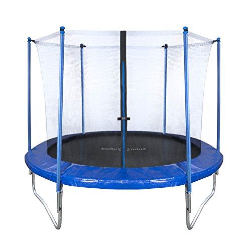 Body & Mind 250cm Trampoline esterno giardino set; sicurezza della rete trampolino