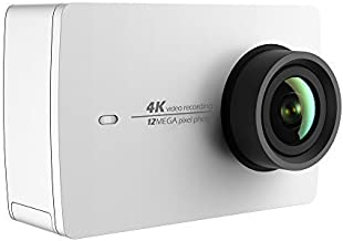 YI 4K Action and Sports Camera, 4K/30fps Video 12MP Raw Image with EIS, Live Stream, Voice Control – White
