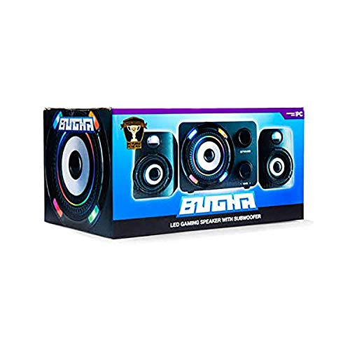 Bugha Exclusive LED Gaming Speakers & subwoofer Set, 3.5mm aux-in