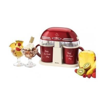 Ariete 631 Macchina con due tazze Twin Ice Cream Maker-631, rosso