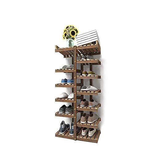 HYL Schuhschränke Selbst gemachte Dorm Wohnzimmer Multifunktionale Massivholzschrank, Platz sparend (Size : 46 * 25 * 117cm)