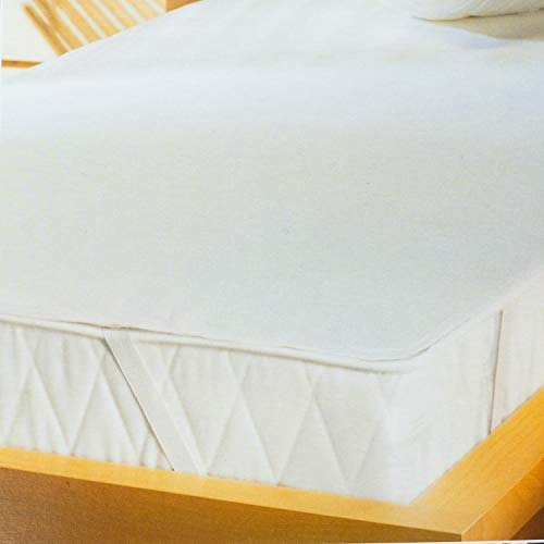Traumschloss Kalmuck Matratzenauflage | 100% Baumwolle | feuchtigkeitsabsorbierend und Kochfest bis 95°C | 90-100 x 190-200 cm