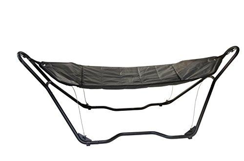Bo-Garden Deluxe gevoerde hangmat zwart.