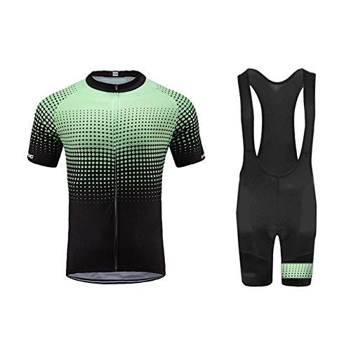 UGLY FROG MTB Herren Radtrikot Set Fahrrad Kurzarm Set Schnelltrocknend Atmungsaktives Shirt + 20D Cushion Shorts Gepolsterte Rennradhose