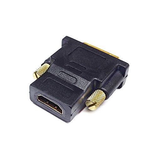 conecto CC20102 Adapter, 24+1-poliger DVI-D-Stecker auf HDMI-Buchse, vergoldet, schwarz