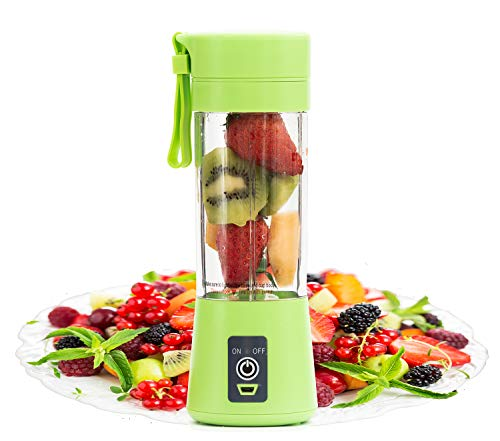 Portable Blender,Personal Size Blender Juicer Cup,Smoothies and Shakes Blender,Handheld Fruit Machine,Ice Blender Mixer Home (green)