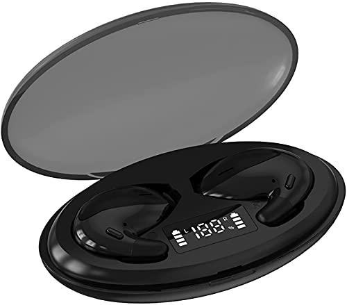 JZTOL Auriculares Bluetooth 5.0 Inalámbricos J90, Auriculares De Reducción De Sonido Estéreo 9D, Auriculares Estéreo Mini Auriculares (Color : Black)