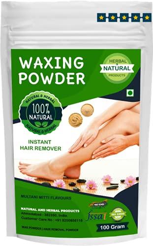 Waxing Powder | Wax Powder | Hair Removal Powder | Multani Mitti Flavours For Instant Hair Remover, Zero Pain- 100Gram