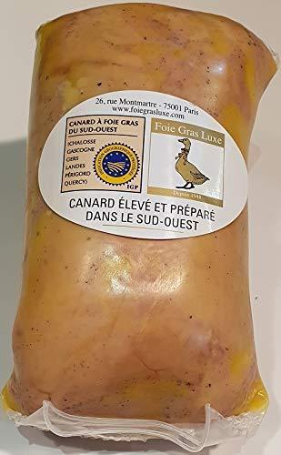 Lobe de Foie Gras de Canard Entier Mi-Cuit Frais - cuisson sous-vide - 580g Foie Gras sous-vide