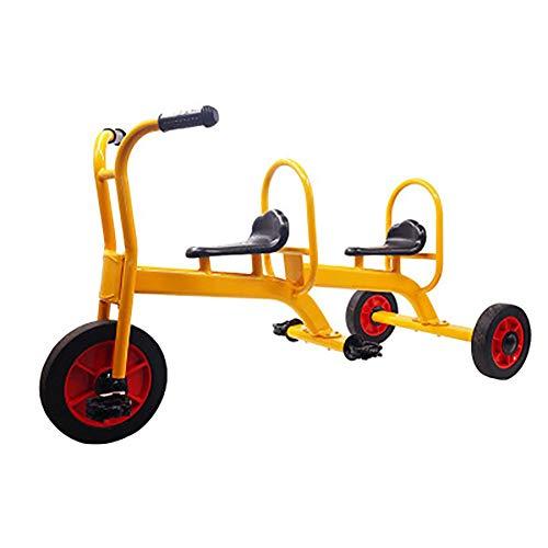 SHARESUN Tandem Trike- kinderen driewieler - Retro Design- Rubber-wielen driewieler - Chrome Front Fender-deck- Step-in Back,voor kinderen ouder dan 3 jaar
