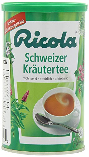 Ricola Swiss Instant Herbal Tea with 13 Herbs | Schweizer Kräutertee | 200 g | Ricola | Switzerland
