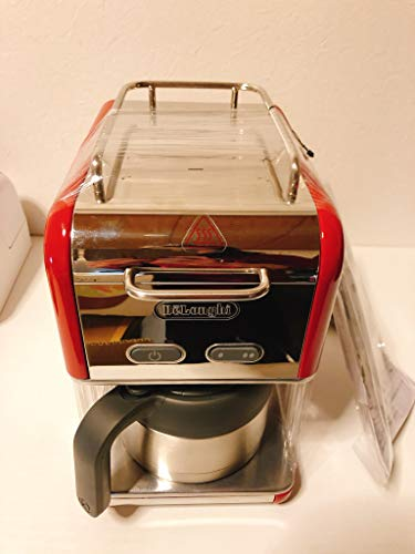 デロンギKmix ドリップコーヒーメーカー プレミアムCMB5T-RD レッド赤(ステンレス保温ポット・ゴールドフィルター)