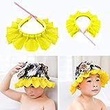 Baby Shower Cap,2 Pack Safe Shampoo Shower Bathing Hat,Silicone Protection Bath Cap,Soft Adjustable Visor Hat for Toddler, Baby, Kids, Children