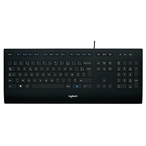 Logitech K280e Pro Business Tastiera Cablata per Windows/Linux/Chrome, USB Plug-and-‎Play, Layout Standard, Anti Schizzi, PC/Laptop, Layout Italiano ‎QWERTY, Nero