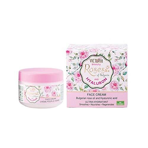 Victoria Beauty - Crema Facial De Día Con Rosas & Ácido Hialurónico
