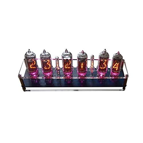 CESULIS 5V 1A In14 NixieチューブLEDクロックグローチューブクロックモジュールボードマザーボードデジタルクロックが組み立てられました