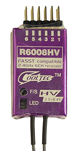 COOL-TECH R6008HV Empfänger 2,4 GHz FASST 6-Kanal Futaba / Robbe kompatibel