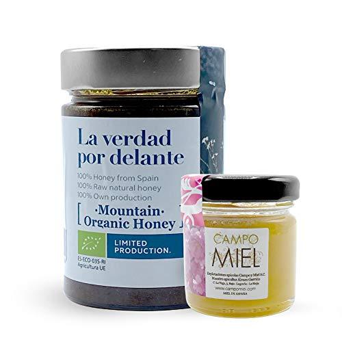 Miel de abeja ecologica pura Montaña Brezo - Roble - Encina | Miel de España 100{21b98bdde372a4655c214231f069ad0d1204b70d815556c83215496b1fdfb80f} Natural, Organica, Fresca y Cruda con certificado Ecológico 450 Gr / Miel cruda, extracción en frío