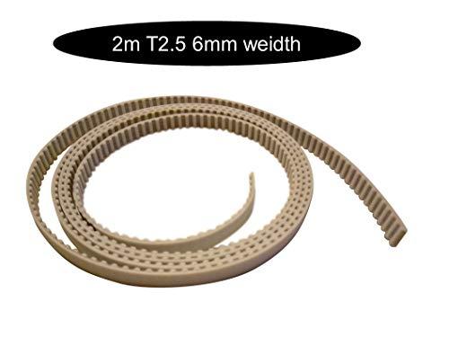 T2.5 6mm Breite Zahnriemen mit Stahlkern je nach Meter Wahl offen (x 2m T2.5-6mm)