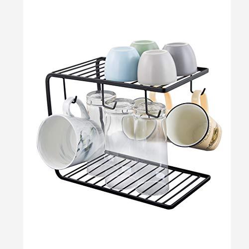 YANG Becherhalter Wasserschalenaufhänger Creative Haushalt Wohnzimmer Glas Becher Hängende Tasse Lagerung Rack Ablassen