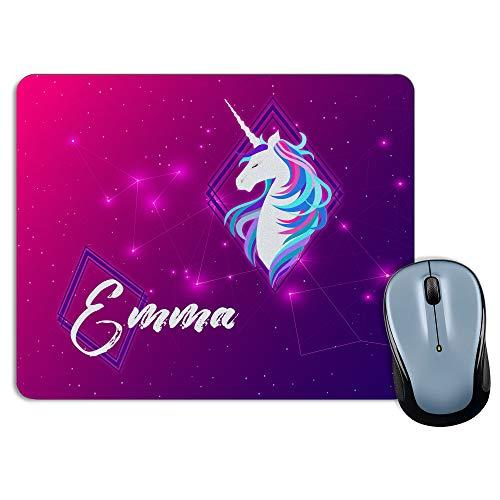 LolaPix Tappetino per Mouse Personalizzato con Nome. Regali Personalizzati per i Fan. Vari Modelli 18x22cm. Rettangolare. Unicorn