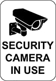 Security Camera in Use Sign 7'x 10' Aluminum with Bold Black Print