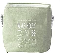 WASHDAY Laundry Storage Basket by House of Quirk My Laundry Hamper Storage Box Toys Books Magazine Organizer(48x36x36cm)