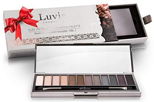 Luvia Profi Lidschatten Palette - Smokey Eyes - Eyeshadow Palette - Inkl. 12 Matten & Schimmernden...
