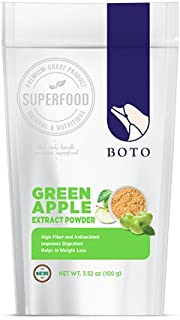 Boto Superfood Green Apple Extract Powder 100% - 3.5oz (New package transition)