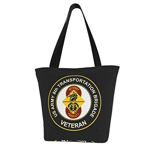 Veterano de la 8ª Brigada de Transporte del Ejército de los EE.UU. Durable con bolsa de hombro de gran