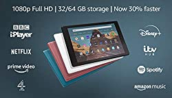 """10.1"""" 1080p full HD display and 32 GB of internal storage (add up to 512 GB with microSD). Now 30% faster thanks to the 2.0 GHz octa-core processor and 2 GB of RAM. Up to 12 hours of reading, browsing the web, watching videos and listening to music w..."""