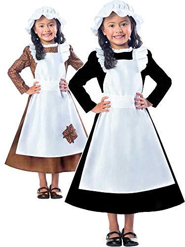 Clarendon Costumes By Amscan Disfraz de niña Victoriana con Texto en inglés Poor Maid Book