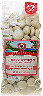 Cherry Republic Chocolate Cherries - Authentic & Fresh White Chocolate Covered Cherries Straight from Michigan - Cherry Blossoms - White Chocolate, 16 Ounces